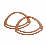 Bag Handles - Oval - 7 inches - Light Brown -BH1L